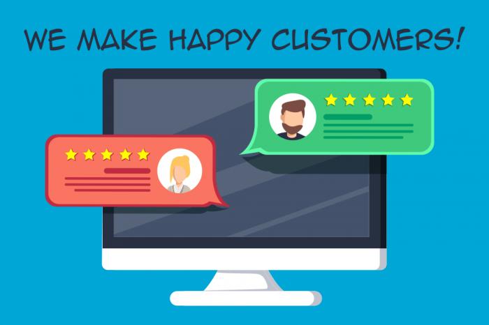 We Make Happy Customers